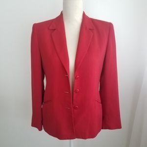 Liz Claiborne | Women's Red Career Straight Blazer